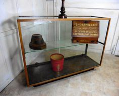 Small Vintage Art Deco Haberdashery Shop Counter, - Antiques Atlas