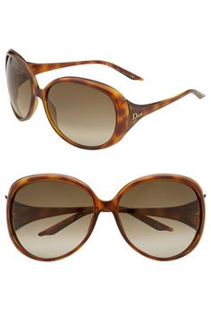 Dior 'Cocotte' Oversized Sunglasses Brown Honey One Size  Half-Yearly Sale-save on select products for women & kids! Metallic logo subtly brands the temples of oversized sunglasses with gradient lenses.