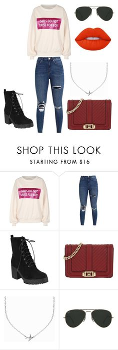 """""""Untitled #22"""" by catherineoconnorxo ❤ liked on Polyvore featuring Rebecca Minkoff, Minnie Grace, Ray-Ban and Lime Crime"""