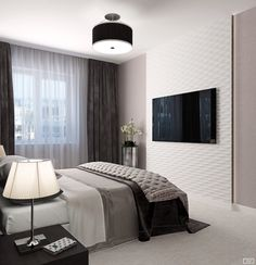 ideas apartment interior decorating small bedrooms inspiration for 2019 Master Bedroom Interior, Small Room Bedroom, Bedroom Tv, Gray Bedroom, Small Bedrooms, Home Room Design, Home Interior Design, Interior Decorating, Small Bedroom Inspiration