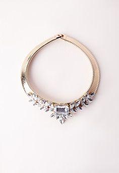 Crystal Statement Collar Gold