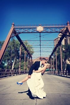 Love the heels! Photo by Jeannine. #WeddingPhotographerMinnesota #SomethingBlue
