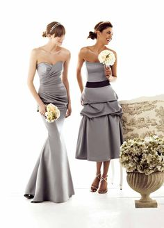 4085b8c46cca Impression Bridesmaids 1595 White Bridesmaid Dresses