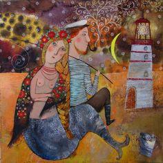 On a Beach by Anna Silivonchik