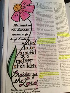 May 8 - Home & Hearth - Motherhood - Psalm Scripture Journal A promise for my friends who desire children. I pray this over them. Scripture Memorization, Scripture Art, Bible Art, Bible Scriptures, Scripture Journal, Faith Bible, Bibel Journal, Bible Knowledge, Illustrated Faith