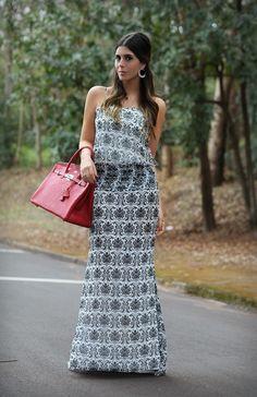 Vestido: Iorane, Bag: Hermes, Jóias: Naia Cunha