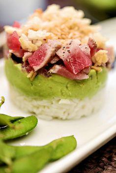 seared tuna tartare avocado mousse #BBSuperFresh #SeaFoodies ad