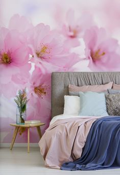 This pretty pink Japanese Cherry Tree Blossom wallpaper mural is custom made to your specific wall dimensions and will brighten up any room you choose to put it in. All wallpapers are made to your dimensions and printed onto a selection of high-quality wallpapers including peel and stick wallpaper - great for rented homes! Click to visit the website... #wallmural #wallpaper #floralwallpaper #homedecor #bedroominspo #pink #pinkbedroom Summer Wallpaper, Pink Wallpaper, Peel And Stick Wallpaper, Wall Wallpaper, Bedroom Wallpaper, Japanese Cherry Tree, Bead Board Walls, Wood Home Decor, High Quality Wallpapers
