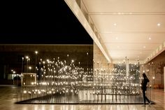 LIKEarchitects have designed LEDscape, a light installation located at the Centro Cultural de Belém in Lisbon, Portugal.