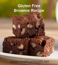 Chocolate Brownie Recipe, non non non and healthy too! #glutenfree #chocolatebrownierecipe