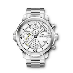 IWC Men's Aquatimer 44mm Steel Bracelet& Case Sapphire Crystal Automatic Silver-Tone Dial Watch IW376802