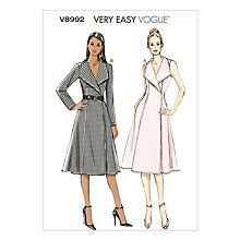 Buy Vogue Women's Dresses Sewing Pattern, 8992 Online at johnlewis.com