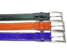 Genuine Eel Exotic Skin Adjustable Belt - Adjustable up to Size 44 (Green) Belvedere http://www.amazon.com/dp/B00EPU5OIO/ref=cm_sw_r_pi_dp_mQ4xub0YN92XY