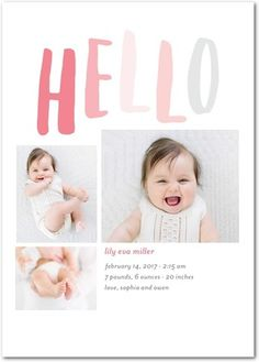 The birth of a beautiful baby girl is a blessing, and it's a milestone that deserves to be celebrated in a one-of-a-kind way. Introduce the precious new arrival to your loved ones with girl birth announcements from Tiny Prints. Baby Girl Birth Announcement, Birth Announcement Photos, Birth Announcements, Tiny Prints, Beautiful Baby Girl, Baby Boy Newborn, Baby Birth, Baby Boys, Baby Shower Invitations For Boys