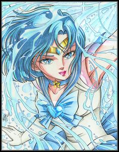 Sailor Mercury - Kurumada style By José Iván Peña Sacasa