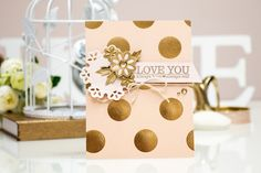 "How to: Create an Easy ""Love You"" Card with Spellbinders Sapphire Machine"