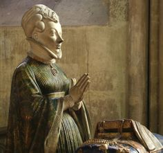 ca. 1416 statue of Jeanne de Boulogne, Duchess of Berry (c.1378-c.1424), by Jean de Cambrai (d.1438), currently situated in the Bourges Cathedral