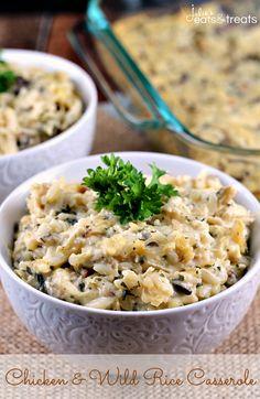 Chicken & Wild Rice Casserole @FoodBlogs