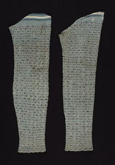 Pair of stockings, probably French, late 18th century