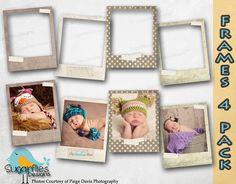 Digital Scrapbooking Frames Set Vintage Photo by SugarfliesDesigns