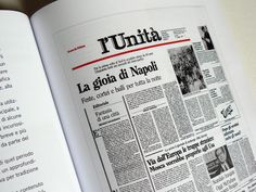Piergiorgio Maoloni - Quotidiani - Newspaper design graduation thesis by Chiara Athor Brolli, via Behance