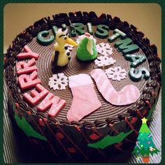 Christmas double choco cake