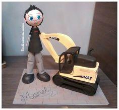 Fofucho obrero con excavadora. www.facebook.com/dondenacenmisuenos