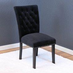 Willa Arlo Interiors Erling Velvet Parsons Chair Upholstery: Black Velvet