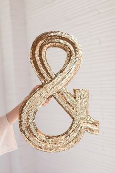 Sequined ampersand