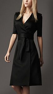 Silk trench wrap dress. Yes. I like it .