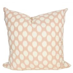 Peach Dots Pillow for the Guest Room