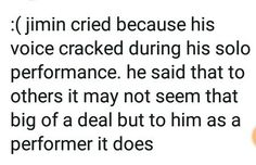 Oh nooo don't cry Jiminnie (I literally cried when I watched it TTㅅTT