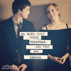 Perks of being a wallflower ;)