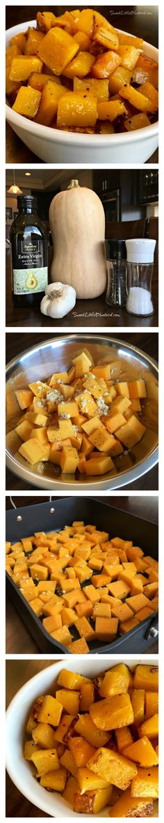 PERFECT ROASTED BUTTERNUT SQUASH - With just a few ingredients, this pretty and absolutely delicious side dish will compliment so many meals. The simple ingredients allow the butternut squash to really shine. Simple never tasted so good!
