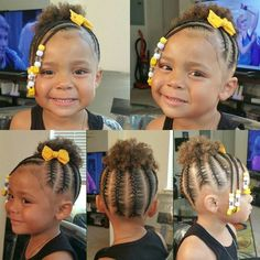Black Baby Girl Hairstyles, Little Girls Natural Hairstyles, Little Girl Braid Hairstyles, Toddler Braided Hairstyles, Toddler Braids, Natural Hairstyles For Kids, Braids For Kids, Natural Hair Styles, Easy Hairstyles