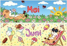 material-intern - Zaubereinmaleins - DesignBlog Kindergarten, Four Seasons, Halloween Makeup, Calendar, Clip Art, Comics, Organization, First Grade Lessons, Seasons Months