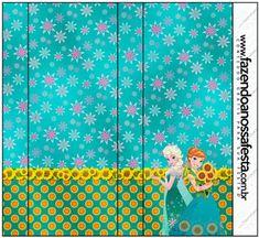 Frozen Fever: Etiquetas para Candy Bar para Imprimir Gratis.