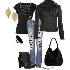A fashion look from November 2012 featuring Raxevsky tops, AllSaints jackets and 1921 jeans. Browse and shop related looks.