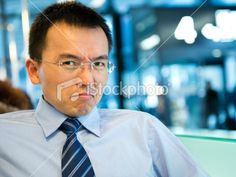 Business emotions - angry Royalty Free Stock Photo
