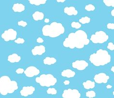 Puffy Clouds fabric by mockturtle on Spoonflower - custom fabric