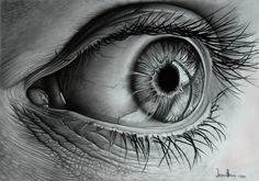- b1/b9 graphite pencils - black pencil - erasers. That's all. Eye by ~Branse on @deviantART http://branse.deviantart.com/art/Eye-180573394