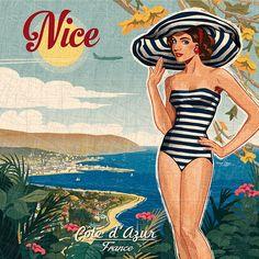 côte d& creation Bruno Pozzo © 2014 - Vintage Labels, Vintage Ads, Vintage Pictures, Vintage Images, Vintage Beach Posters, Diy Image, Pin Up, Paris Images, Retro Pop