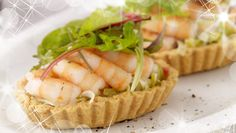 Another incredible Christmas starter! Prawn & Creamed Leek Tartlet with Parmesan Pastry
