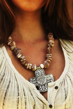 Chunky Rock Natural Marble Necklace