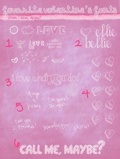 Favorite Valentine Fonts