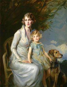 Philip A. de Laszlo - Mrs. Claude Leigh and Miss Virginia Leigh
