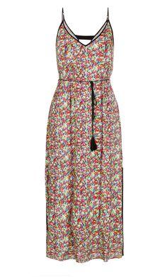 City Chic - PLAIT TRIM RAINBOW MAXI DRESS - Women's Plus Size Fashion