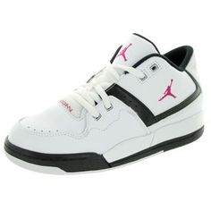 Enjoy gym class in these Nike Jordan basketball shoes. Made from leather, these tennis shoes are durable enough for everyday wear at school and at the park. Color: White Fit true to size: Yes Footbed: