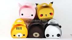 Anime Animals with the Stampin' Up! Curvy Keepsake Box - Pikachu, Panda, Tiger, Bear & Pig.