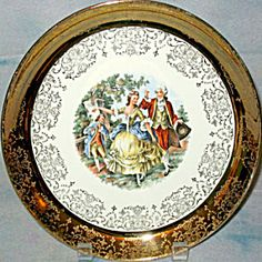 I have this plate , I found it at good will .Sabin Courting Couple luncheon plate